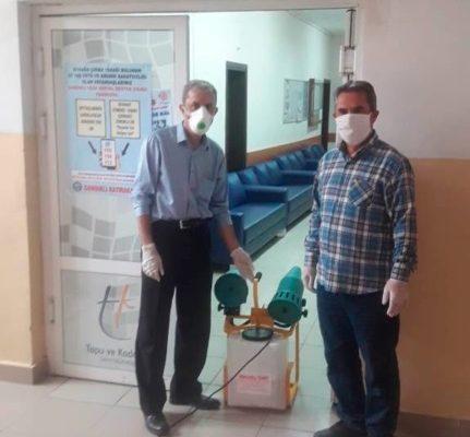 Sandıklı'da kamu kurumları dezenfekte çalışmaları sürüyor