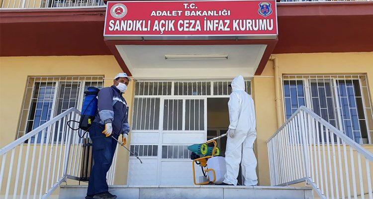 Sandıklı Açık Ceza Evi dezenfekte edildi