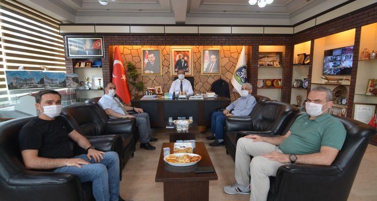 Tapu Müdürlüğü'nden Başkan Mustafa Çöl'e ziyaret