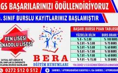 LGS sonuçlarına göre Bera Koleji'nde 2 öğrenciden 1'i Fen Liselerine yerleşiyor