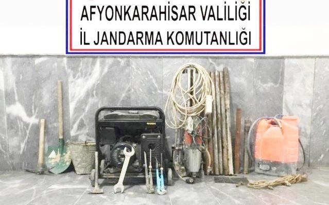 Kaçak kazı yapan 5 şüpheli gözaltına alındı