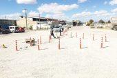 Sandıklı Yeni Sanayi Sitesinde Trafik İşaretçileri çalışması