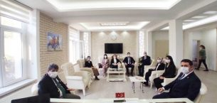 Hakim ve Savcılar Kaymakam Eflatun Can Tortop'u Makamında Ziyaret Etti
