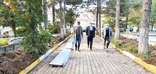 Başkan Mustafa Çöl  Şehir Kabristanı'nda incelemede bulundu