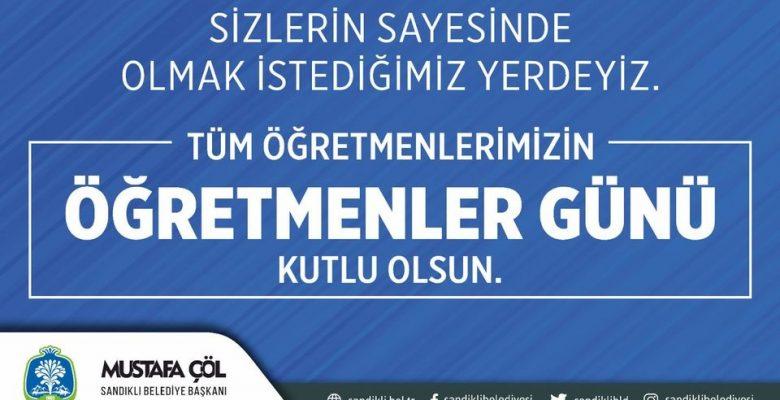 Başkan Mustafa Çöl'den Öğretmenler Günü Mesajı