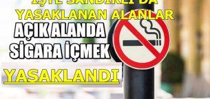 Sandıklı'da sigara  içilmesi yasak alanlar