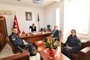 Jandarma Komutanı Teğmen Alptuğ Ayhan'a ziyaret