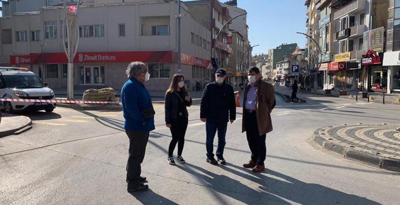 Sokağa çıkma kısıtlamasına uyan vatandaşlara teşekkür