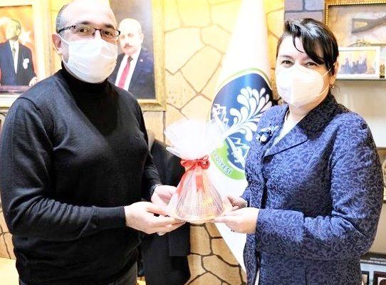 Milletvekili İskenderoğlu'ndan  Başkan Mustafa Çöl'e ziyaret