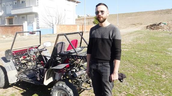 Çocukluk hayali Off- Road aracını kendisi yaptı