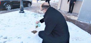 Sandıklı'da sokak  hayvanları unutulmadı