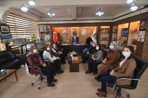 Sandıklı Kadın Kültür evi personelinden Başkan ÇÖL'e ziyaret