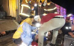 5 aracın karıştığı zincirleme trafik kazasında 3 kişi yaralandı