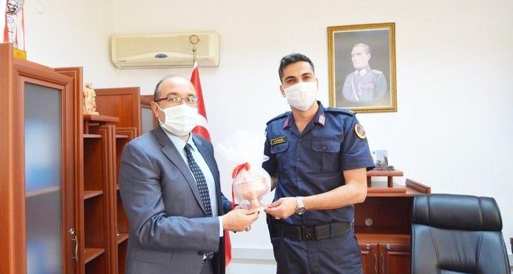Başkan Mustafa Çöl'den, Sandıklı İlçe Jandarma Komutanlığına ziyaret